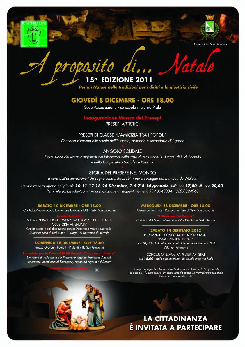 A proposito di Natale- Programma 2011