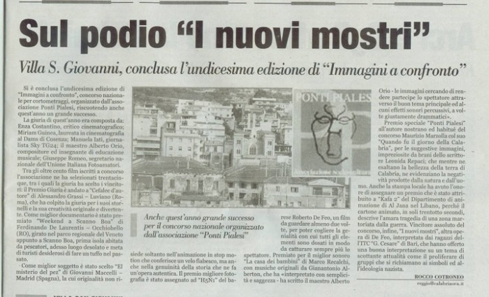 CalabriaOra- Immagini a Confronto 2008