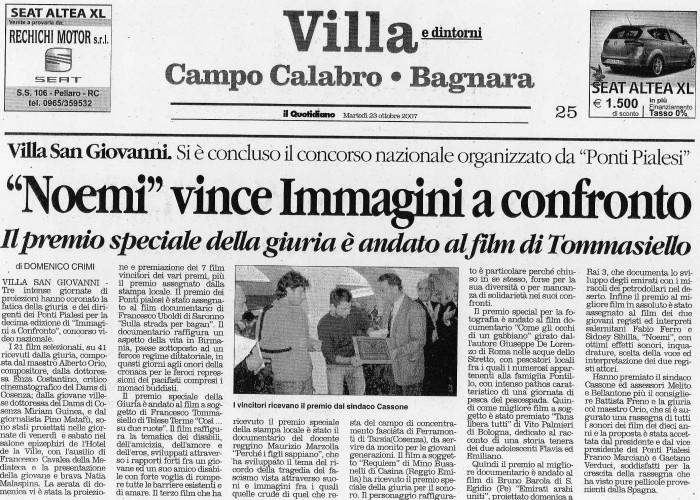 Il Quotidiano - IMMAGINI A CONFRONTO 2007