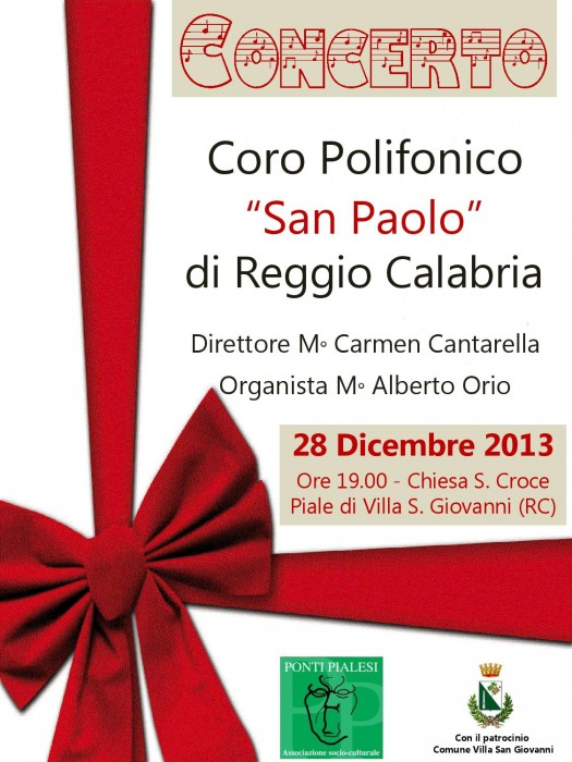 Ponti Pialesi locandina concerto Coro San Paolo