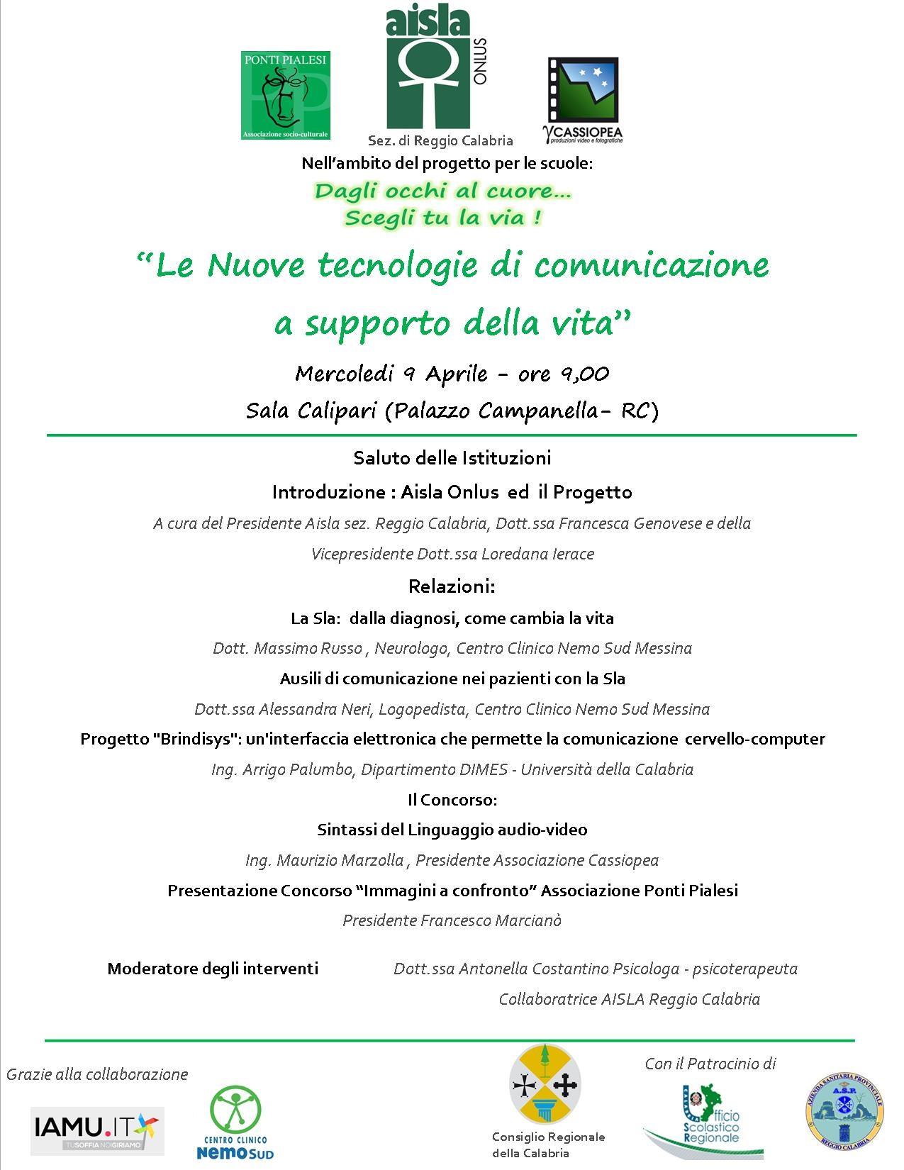 """Locandina seminario AISLA """"Dagli Occhi al Cuore scegli tu la via.... """""""