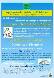 Ponti Pialesi - Accoglienza Luce della Pace 2014