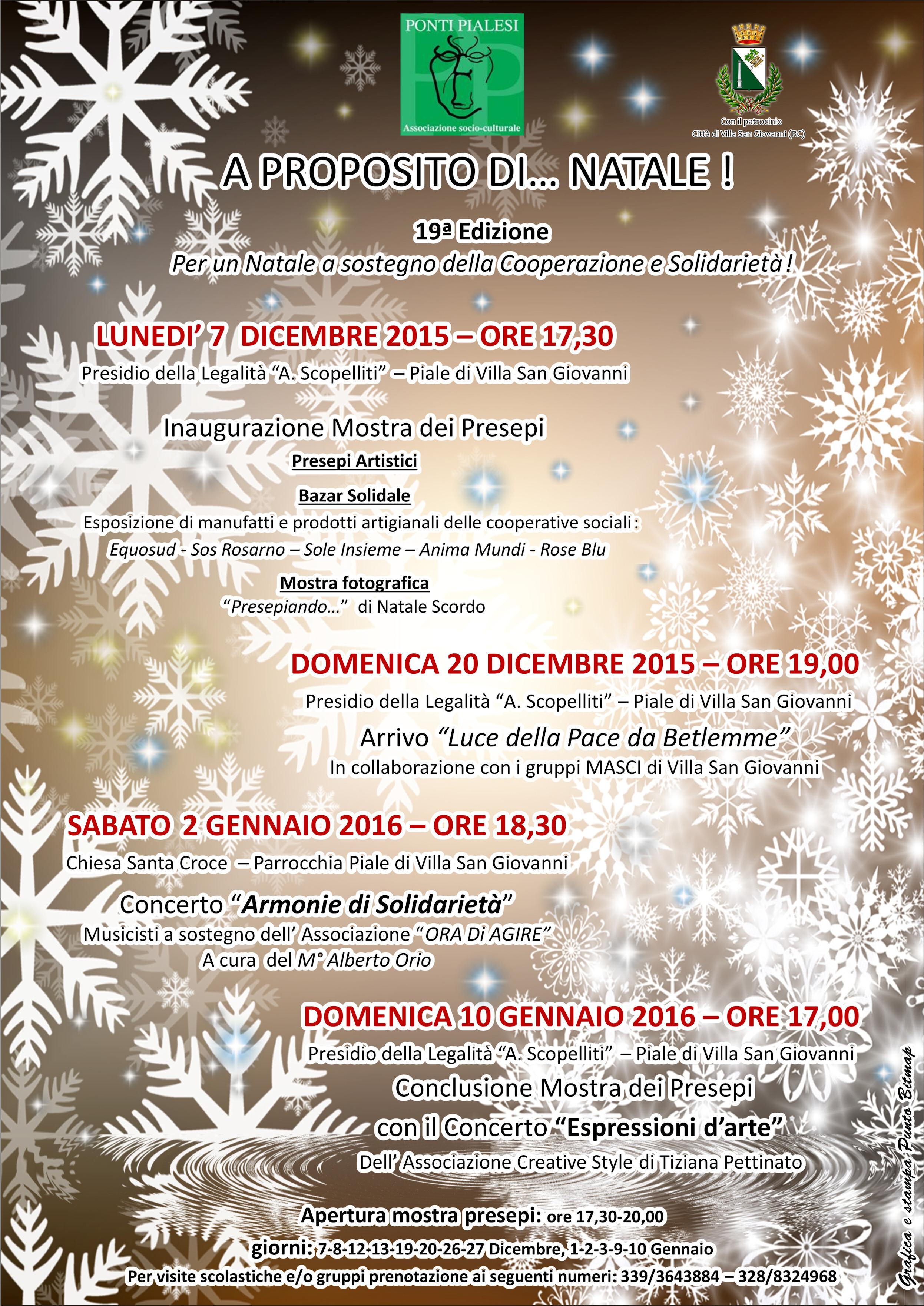 PONTI PIALESI - A Proposito di... Natale 2015