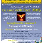 """PONTI PIALESI - LUCE DELLA PACE 2015 - APPELLO INTERCULTURALE """"NOI, COSTRUTTORI DI PACE!"""