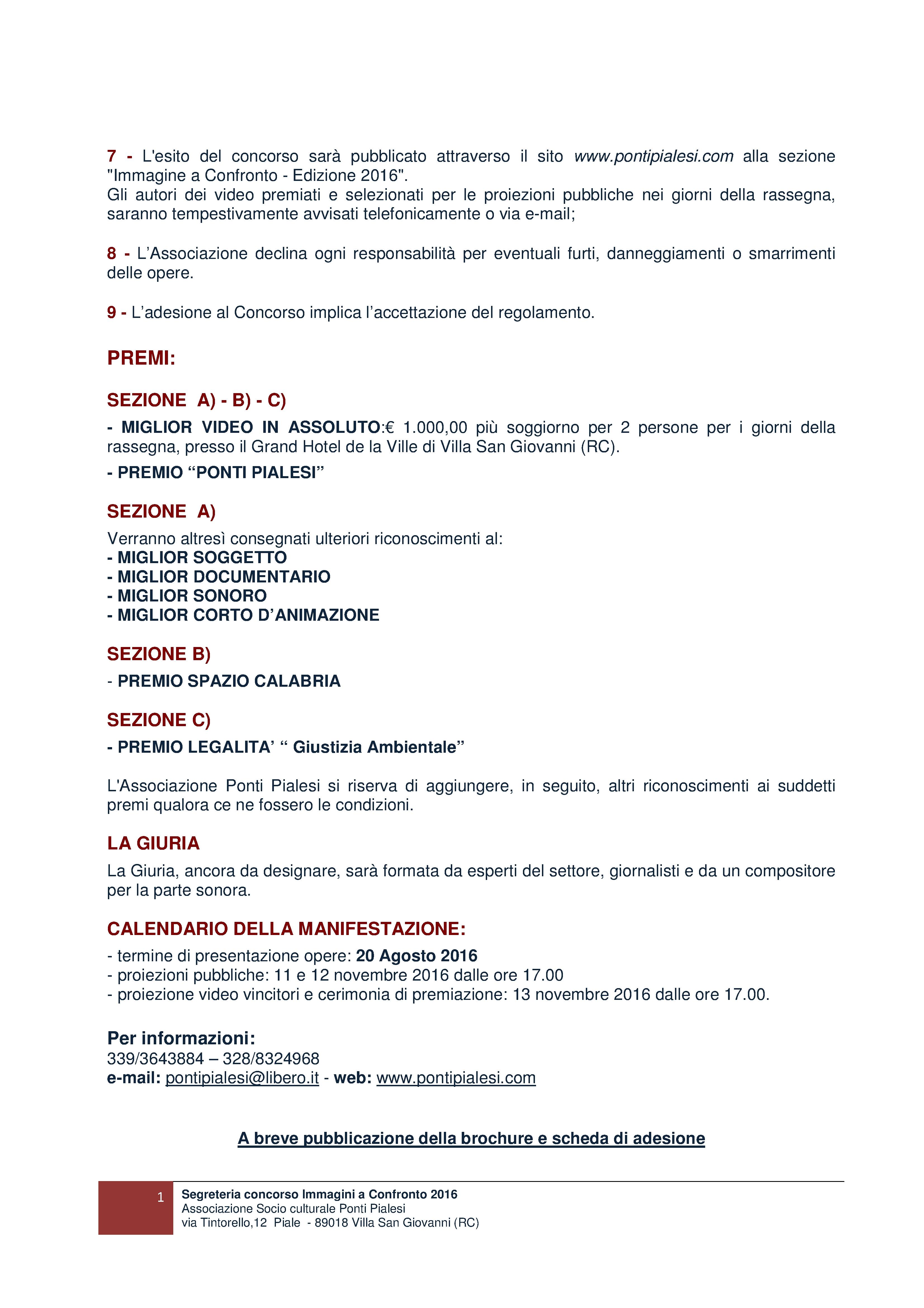 PONTI PIALESI - IMMAGINI A CONFRONTO 15a Edizione Bando IAC 2016 PAG 2