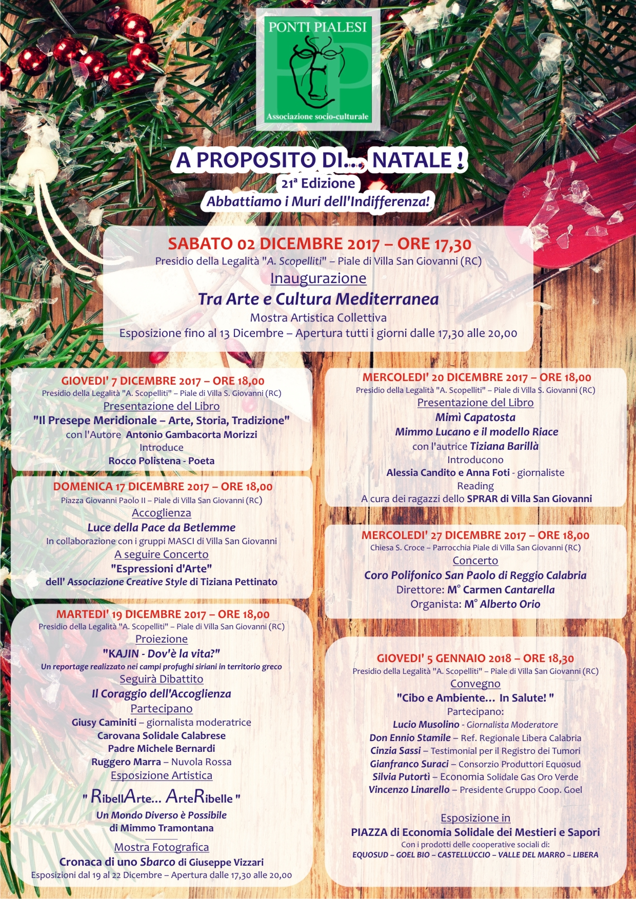 PONTI PIALESI - A Proposito di... Natale ! - 21a Edizione - Abbattiamo di Muri dell'Indifferenza