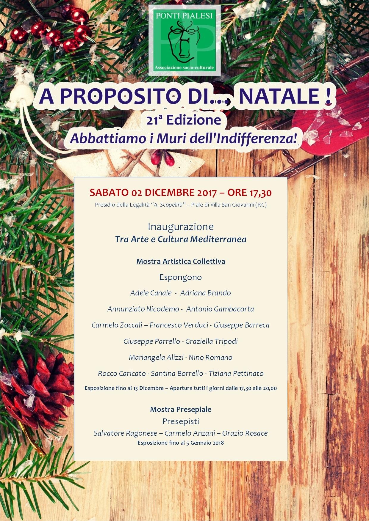 Ponti Pialesi - Mostra Artistica Collettiva - A Proposito di... Natale ! 2017