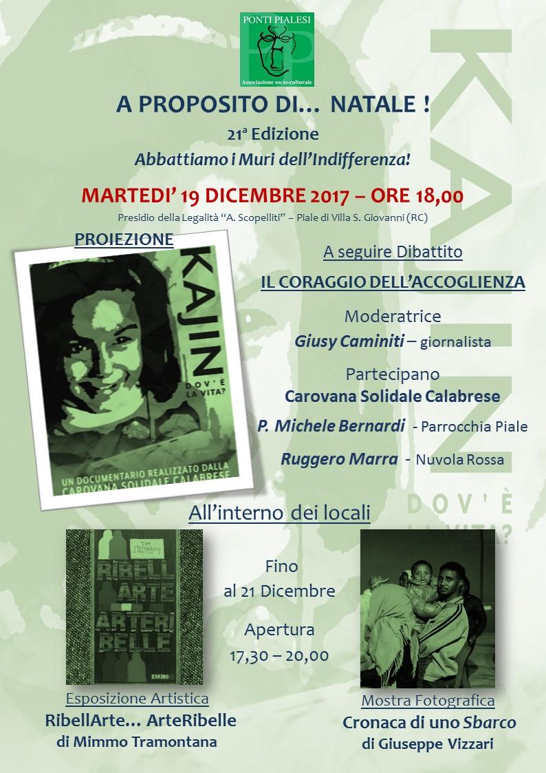 Ponti Pialesi - A Proposito di Natale 2017 - Presentazione del Video KAJIN - Dov'è la Vita?