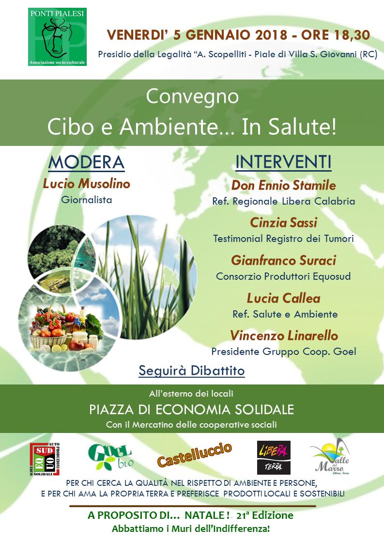 """PONTI PIALESI - Convegno """"Cibo e Ambiente... in Salute! """" - 5 Gennaio 2018"""