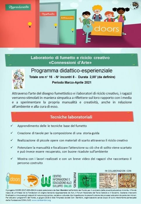 Ponti Pialesi - laboratorio-di-fumetto-e-riciclo-creativo (Progetto Doors)
